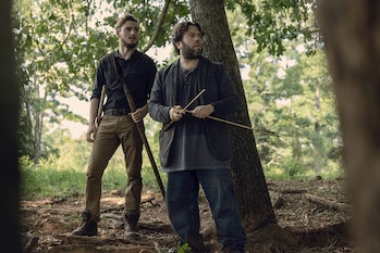 the walking dead season 9 episode 9 luke alden arrows whisperers trap alpha