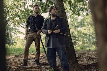 the walking dead season 9 episode 9 luke alden arrows whisperers trap alpha