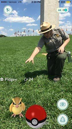 A National Mall park ranger