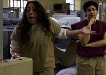 Orange is the new black snorting coffee grounds