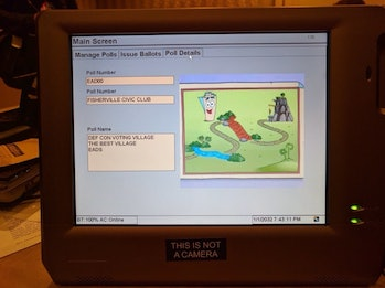 "Horner was able to register a voter living in ""DEF CON Voting Village,"" represented by a map from 'Dora the Explorer,' on the machine."