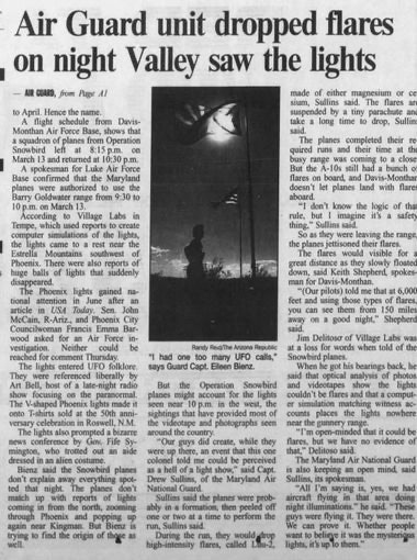 'The Arizona Republic' reports on the National Guard's explanation
