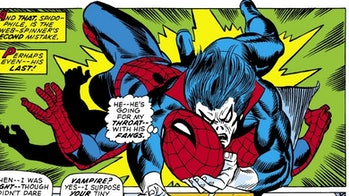 Morbius the Living Vampire and Spider-Man battle in the comics