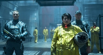 """Russell (Julian Dennison), who goes by """"Firefist,"""" can summon flames with his hands, and in one dark future he kills lots of people."""