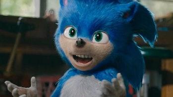 Sonic's teeth are very human.