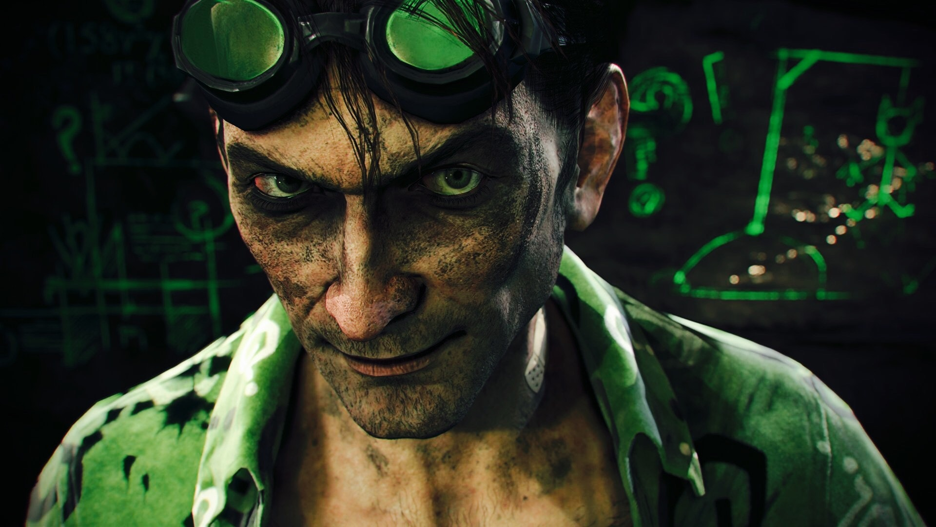 Riddler in the Arkham video games.