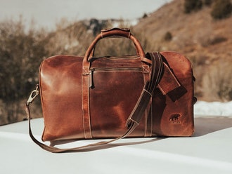Kodiak Leather Weekender Duffel Bag