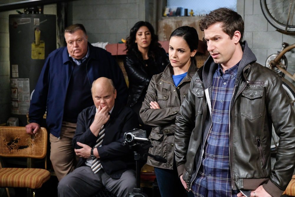Cast of 'Brooklyn Nine-Nine' including Andy Samberg