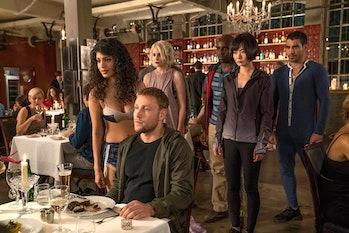 Tina Desai, Max Rimelt, Tuppence Middleton, Brian J. Smith, Doona Bae in 'Sense8'