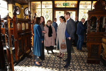 Prince Harry and Meghan Markle visited Belfast's Crown Liquor Saloon in March.