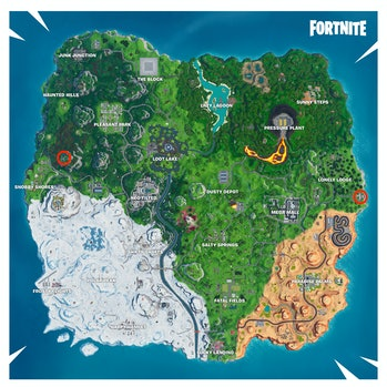fortniterun down hero mansion and abandoned villain hideout locations map