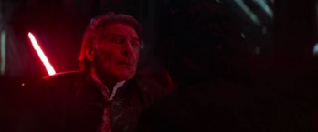 Han stabbed by Kylo