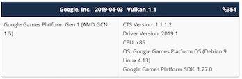google stadia GPU leak