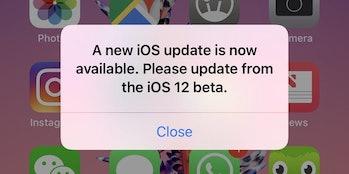 ios 12 beta bug fix