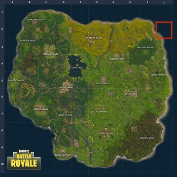 J-2 on 'Fortnite' grid map