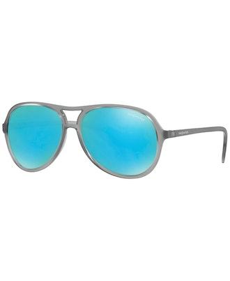 Sunglass Hut Collection Sunglasses, Grey/Green Mirror