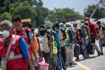 Sulawesi Island earthquake evacuation