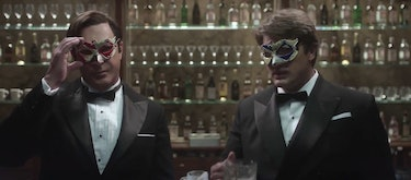 """The Snicket brothers in the flashback from """"The Carnivorous Carnival"""""""