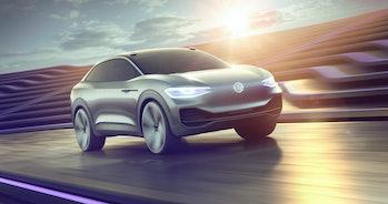 Volkswagen's I.D. Crozz electric car concept.