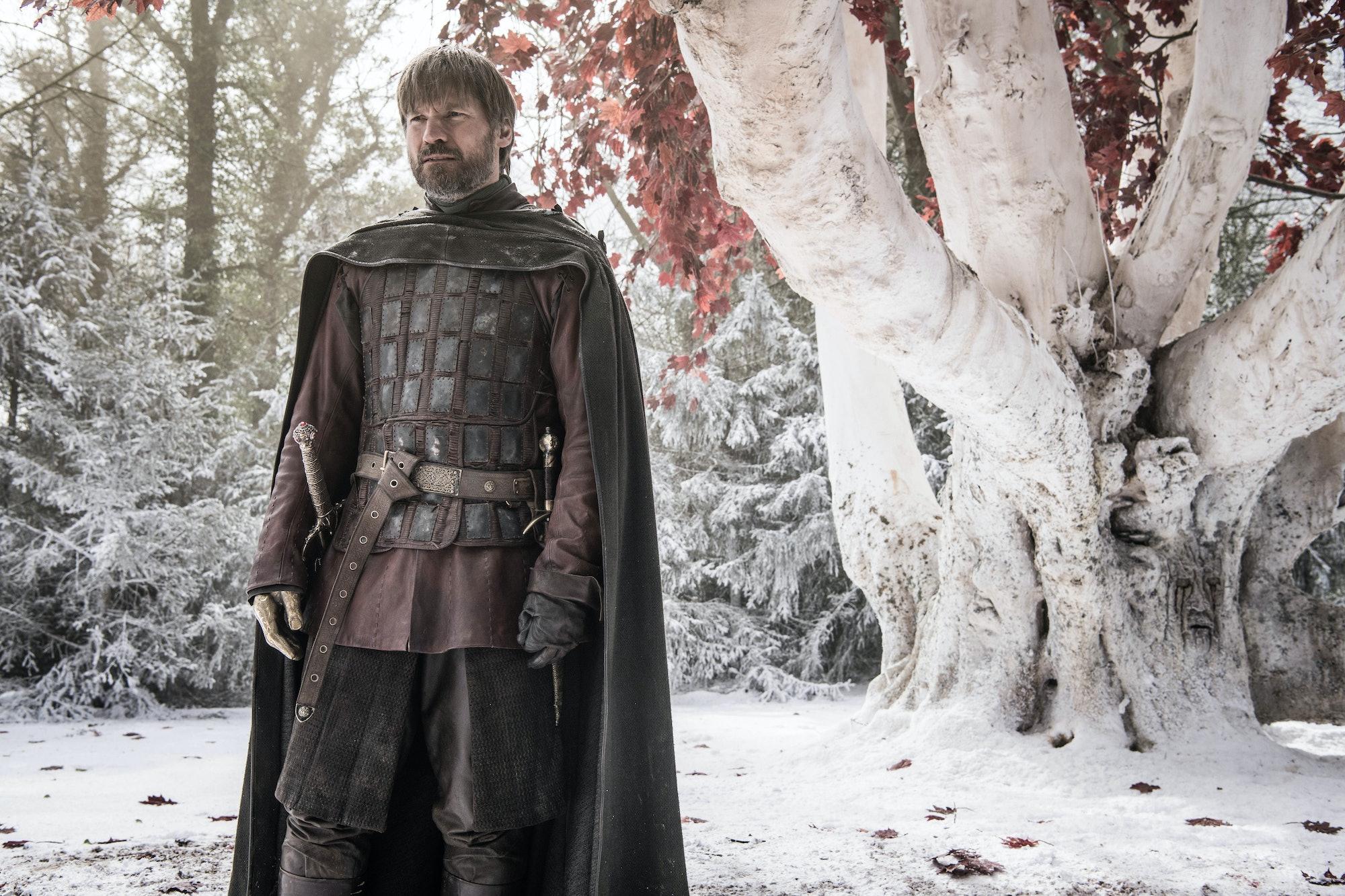 game of thrones jaime lannister winterfell godswood