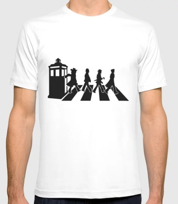 Abbey road - doctor who T-shirt