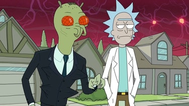 """Nathan Fillion voices the Galactic Federation AgentCornvelious Daniel in the 'Rick and Morty' Season 3 premiere """"The Rickshank Redemption""""."""