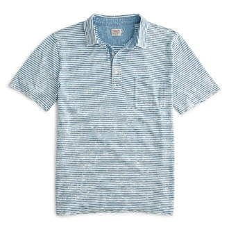 Faherty Brand Indigo Polo
