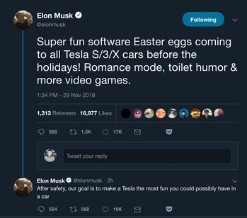 Romance mode Tesla