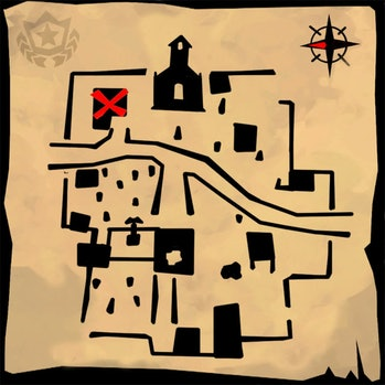 Snobby Shores Treasure Map