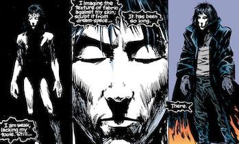 Still of Morpheus from Neil Gaiman Sandman comic