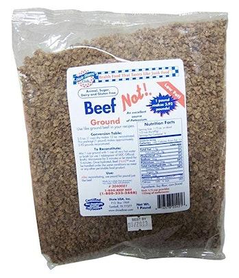 meatless, vegan, meat substitute, ground beef