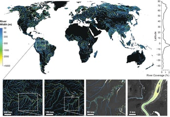 rivers and streamsGlobal River Widths from Landsat (GRWL) Database
