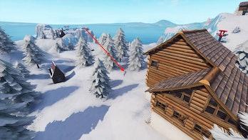 Fortnite Search Between Three Ski Lodges