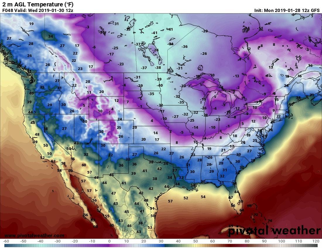 surface temperatures