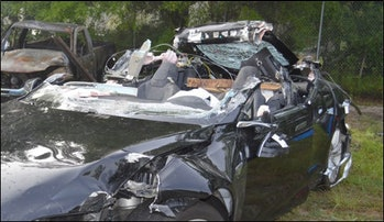 The Tesla involved in that fatal crash in Florida.