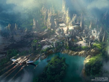 Previous concept art for Galaxy's Edge.
