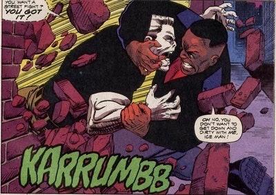 Luke Cage fighting Tombstone