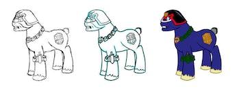 Judge Dredd Pony by moabite