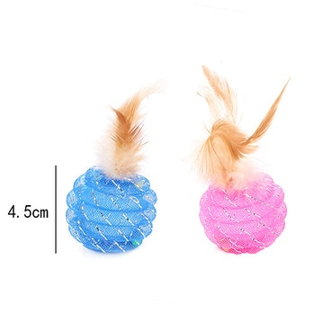 Fun Meows Interactive Cat Ball Toys with Feather