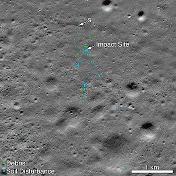 crash site of Vikram Lander