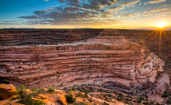 The 1.35 million-acre Bears Ears National Monument in southeastern Utah protects one of most significant cultural landscapes in the United States, with thousands of archaeological sites and important areas of spiritual significance. Abundant rock art, ancient cliff dwellings, ceremonial kivas, and countless other artifacts provide an extraordinary archaeological and cultural record, all surrounded by a dramatic backdrop of deep sandstone canyons, desert mesas, and forested highlands and the monument's namesake twin buttes. These lands are sacred to many Native American tribes today, who use the lands for ceremonies, collecting medicinal and edible plants, and gathering materials for crafting baskets and footwear. Their recommendations will ensure management decisions reflect tribal expertise and traditional and historical knowledge. Photo by Bob Wick, BLM