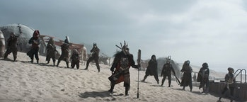 Enfys Nest and the Cloud-Rider gang appeared briefly in the 'Solo' trailer.