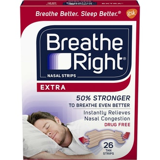 Breathe Right Extra Tan Drug-Free Nasal Strips for Nasal Congestion Relief
