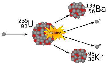 nuclear fission of uranium