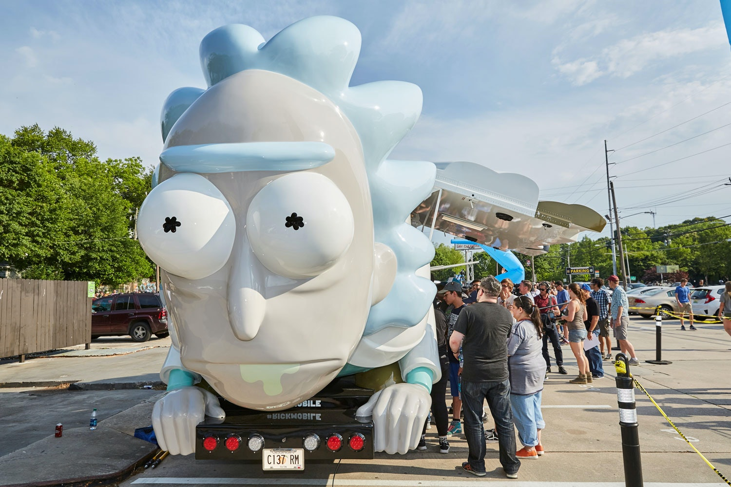The Rickmobile is an uncannily accurate representation of the mad scientist Rick Sanchez.