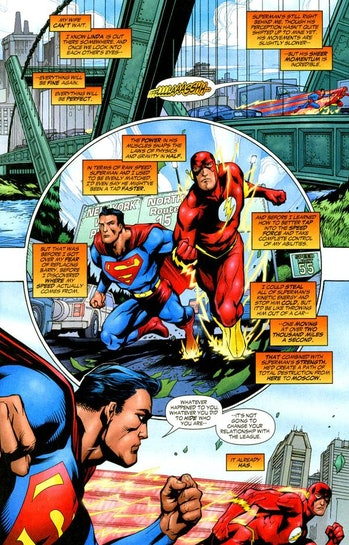Superman Justice League the Flash