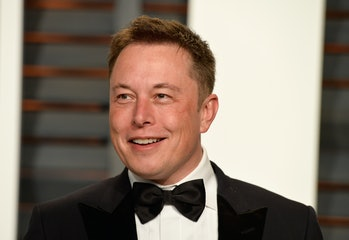 BEVERLY HILLS, CA - FEBRUARY 22: CEO of Tesla and Space X Elon Musk attends the 2015 Vanity Fair Oscar Party hosted by Graydon Carter at Wallis Annenberg Center for the Performing Arts on February 22, 2015 in Beverly Hills, California. (Photo by Pascal Le Segretain/Getty Images)