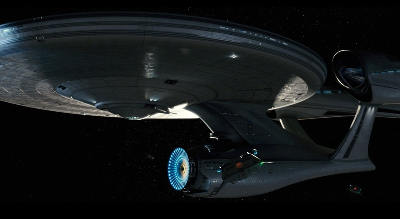 The USS Enterprise in the J.J. Abrams 'Star Trek' 2009 reboot