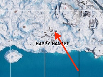 Fortnite Week 4 Snowfall Hidden Banner Location