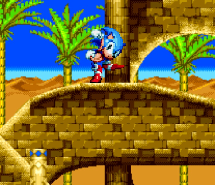 Desert Palace Zone from Sonic the Hedgehog 3